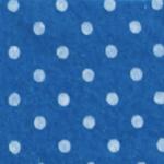 Pois Blu medio / bianco